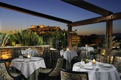Akropolis by night, Athens, Greece (Royal Olympic Hotel)