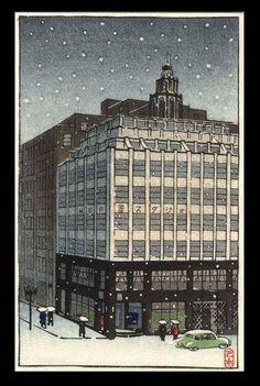 1936 - Hasui, Kawase - Ginza in the Snow