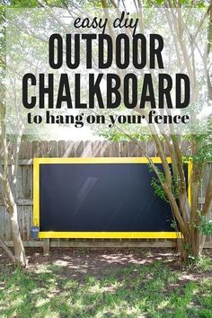A super quick and simple project that will create hours an… DIY Fence chalkboard. A super quick and simple project that will create hours and hours of fun for your kids! Kids Outdoor Play, Outdoor Play Spaces, Kids Play Area, Backyard For Kids, Backyard Projects, Outdoor Projects, Outdoor Fun, Outdoor Games, Simple Backyard Ideas