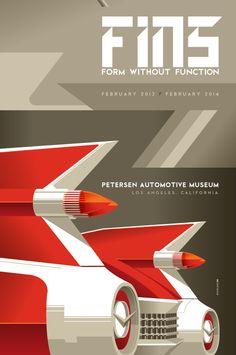 petersen automotive museum : fins