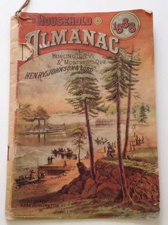 Antique 1888 Household Almanac  Vintage Calendar