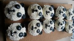 who doesn't want a fluffy panda bear cupcake?