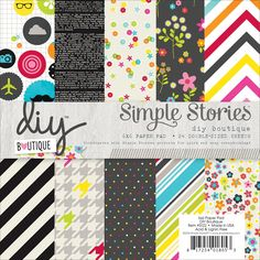 Simple Stories Paper Pad, 6 by 6-Inch, DIY Boutique, 24-Pack -- Read more reviews of the product by visiting the link on the image.