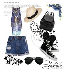 """Shahida Parides Coachella Cami Contest"" by razaibrahimovic ❤ liked on Polyvore featuring Witchery, Converse and Roxy"