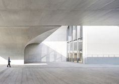 Shanghai art museum by Atelier Deshaus brings together vaulted columns and an industrial relic.