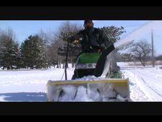 "My John Deere 44"" Snowblower Attachment In Action!"