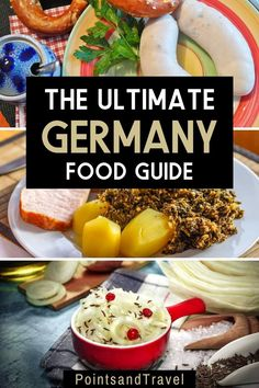 The Ultimate Germany Food Guide: the best foods to eat in Germany. German food is hearty and delicious. And not only beer, pretzels and bratwurst! This is your ultimate guide to German food. What to eat in Germany! #germany #germanfood | What to eat in Germany | German food list | The Best Things to Eat in Germany | Food Spot, Food L, Visit Germany, Germany Travel, Traditional German Food, California Food, Good Foods To Eat, Bratwurst, Best Places To Eat