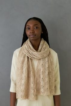 Botanical Lace Wrap | Purl Soho Lace Knitting Patterns, Knitting Stitches, Knitting Yarn, Stitch Patterns, Scarf Patterns, Knitting Ideas, Knitting Projects, Knitted Shawls, Crochet Scarves