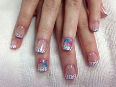 My Gender Reveal Nails for my client  Is it a Boy or Girl?!?! B