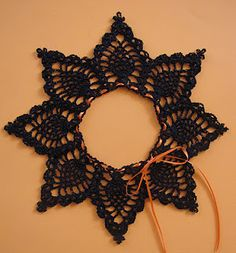 This would be great as a lamp-shade topper.  BellaCrochet: Pineapple Pumpkin Lace: A Free Crochet Pattern For You