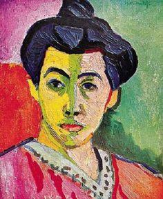 Znalezione obrazy dla zapytania matisse portret żony z zieloną pręgą