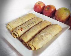 Strudel cu mere si ghimbir--Reteta fara zahar • Retetele mele dragi Hot Dog Buns, Hot Dogs, Romanian Food, Baby Food Recipes, Biscuits, Deserts, Bread, Diet, Ethnic Recipes
