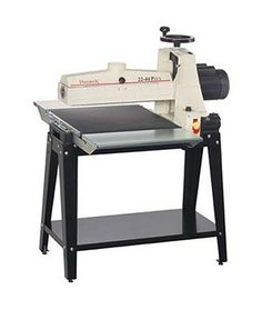 JET Model Plus Benchtop Drum Sander (Shown with Optional Infeed Outfeed Tables and Stand), Dimensions: -Overall Height - Top to -Overall Width - Side to -Overall Depth - Front to -Overall Product Woodworking Box, Woodworking Projects That Sell, Woodworking Classes, Youtube Woodworking, Cordless Drill Reviews, Cordless Hammer Drill, Best Cordless Circular Saw, Control 4