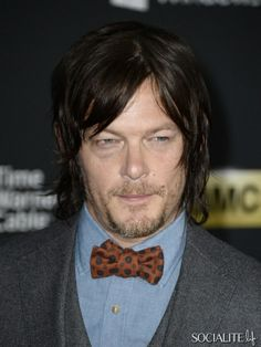 """Actor Norman Reedus arrives at the premiere of AMC's """"The Walking Dead"""" 4th season at Universal CityWalk on October 3, 2013 in Universal Cit..."""