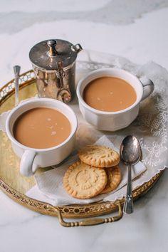 Yuanyang Tea (Hong Kong Style Tea Brewed with Coffee), by thewoksoflife.com