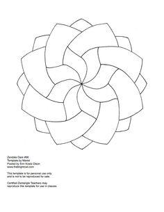 Simple Zentangle Template