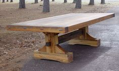 Farmhouse trestle table.