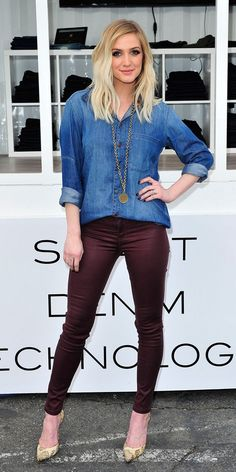 Denim Daze: Ashlee Simpson Gives Us Serious Outfit Envy in DL1961 via @WhoWhatWear