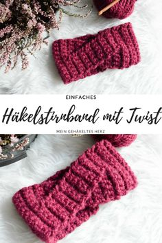 Latest Totally Free Crochet headband outfit Tips Twisted Stirnband – Mein gehäkeltes Herz Crochet Headband Pattern, Knitted Headband, Crochet Beanie, Crochet Hats, Easy Crochet Headbands, Lace Headbands, Crochet Patterns For Beginners, Knitting For Beginners, Beginner Crochet