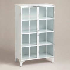 White Giselle Double Cabinet - bathroom furniture from World Market Bathroom Furniture, Living Room Furniture, Home Furniture, Vintage Furniture, Home Office Accessories, Bathroom Accessories, Brown Bathroom, Bathroom Laundry, Glass Bathroom