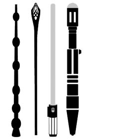 elder wand, Gandalf staff, light saber, sonic screwdriver.............choose wisely