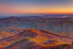 Montañas en el otoño