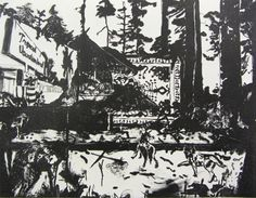Lithography titled Tropical Vacation Land by CARYHprints on Etsy, $120.00