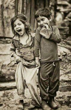 Poor but happy children ☺♥