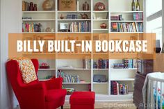 meet Billy, our Built-In Bookcase