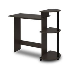 Computer Desk Home Office Laptop Table PC Workstation Furniture For Small Spaces Computer Desk With Shelves, Small Computer, Office Computer Desk, Pc Desk, Desk Shelves, Laptop Desk, Home Office Desks, Home Office Furniture, Garden Furniture