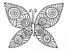 Download - Black line abstract butterfly for greeting card, coloring book — Stock Illustration #126096770
