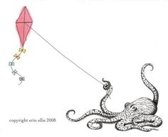 Octopus art #kites #tentacles