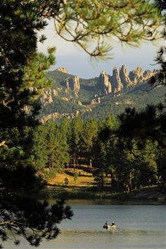 """Stockade Lake in Custer State Park provides a serene place to """"getaway"""" from it all."""