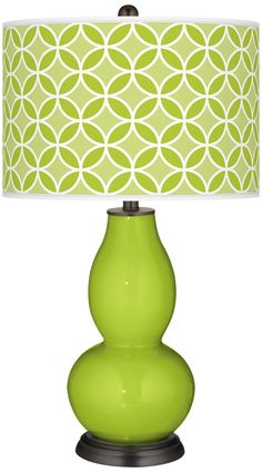 Tender Shoots Circle Rings Double Gourd Table Lamp -