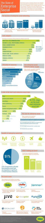 Social media for the enterprise info graphic