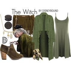 The Witch from Brave // green dress / brown boots