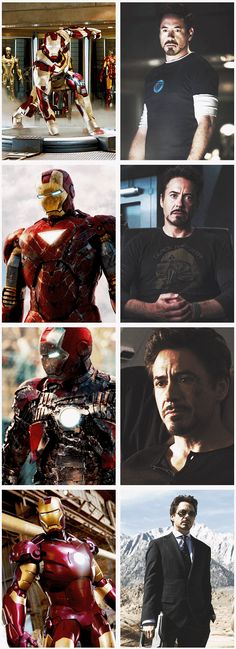 Tony Stark/Iron Man in Iron Man 1, 2, 3 and The Avengers