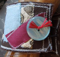 Off Shoot Harlem Inspired Light Blue Red by dwhitecreations, $25.00