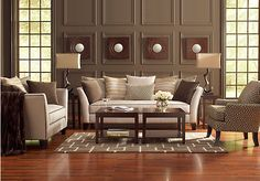 Shop for a Sofia Vergara Santorini 8 Pc Living Room at Rooms To Go. Find Living Room Sets that will look great in your home and complement the rest of your furniture.  #roomstogo