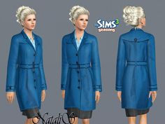 Single Breasted Coat by NataliS  http://www.thesimsresource.com/downloads/1179294