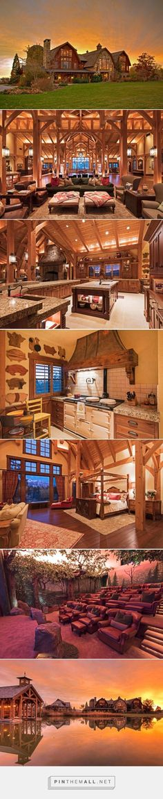 "For Sale: An Incredible ""Barn Mansion"" in Utah - . - For Sale: An Incredible ""Barn Mansion"" in Utah – - Villa, Log Cabin Homes, Log Cabins, Mountain Cabins, Rustic Cabins, House Goals, My Dream Home, Future House, Beautiful Homes"