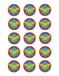 Wonder Woman edible cupcake toppers
