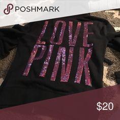 Victoria's Secret pink sweatshirt Great condition PINK Victoria's Secret Tops Sweatshirts & Hoodies