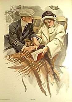 """""""The Proposal"""" illustration by Harrison Fisher from Greatest Moments of a Girl's Life. First moment."""