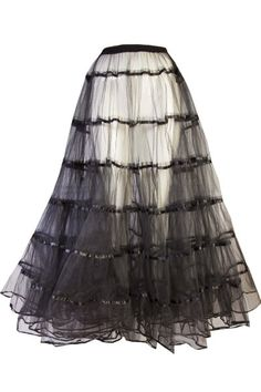 ca8c1befaf Dramatic Long Gothic Victorian Black Net Tulle Skirt | Clothing ...