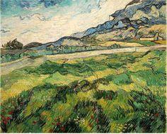 「緑の小麦畑」 1889    73 x 92 cm  Loan at Kunsthaus Zurich
