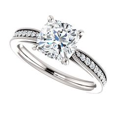 1.70ct Forever Brilliant Moissanite Engagement by GerryTheJeweller