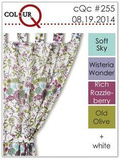 Soft Sky, Wisteria Wonder, Rich Razzleberry, Old Olive