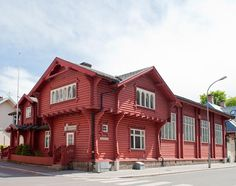This laftede building in Fredrikstad built as turn hall and club rooms in 1899 by architect Ole Sverre. Norway