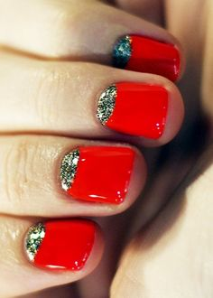 Red nails with some spice